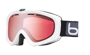Bolle Y6 OTG Goggles, Shiny White, Vermillion Gun Lens