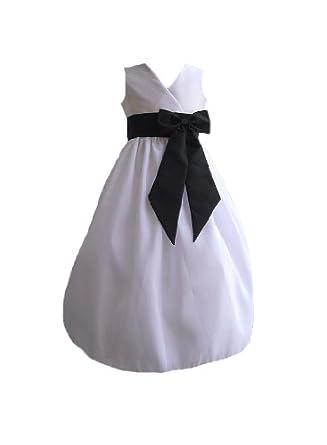 Classykidzshop Toddler Girls Poly-Taffeta Dress - Black 2T