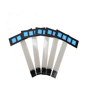 Zcl Zndiy-Bry 1 X 4 Key Slim Matrix Membrane Switch Control Panel Keypad Keyboard - Black + Blue (5 Pcs)