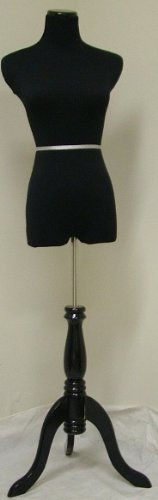 New Black Female Mannequin Dress Form Size 2-4 Small 34