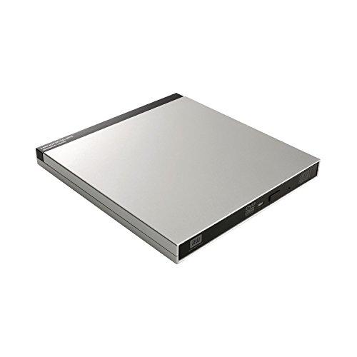 Logitec ポータブルDVDドライブ Mac専用 9.5mm薄型ドライブ採用 USB3.0/2.0 シルバー [LDR-PUB8U3MSVW [フラストレーションフリーパッケージ (FFP)]