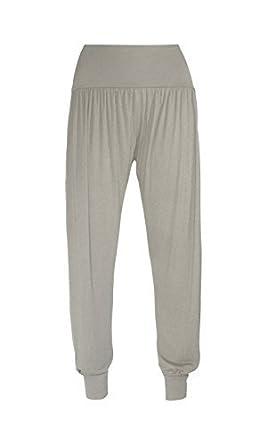Womens Ali-Baba Legging Ladies Full Length Baggy Hareem Trouser Pant 8 10 12 14 (UK 12-14 (M/L), Grey)