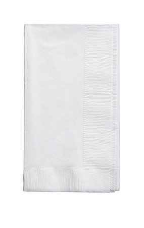 50 gorgeous White Dinner Napkins for Wedding, Party, Bridal or Baby Shower, Disposable Bulk Supply Quality!