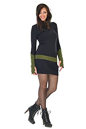 Elfen Women's Fleece Gauntlets Hoodie Dress at Amazon Women's