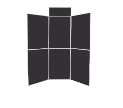 6 Panel Folding Exhibition Display Kit Ideal for Conferences, Presentation, Display Purposes