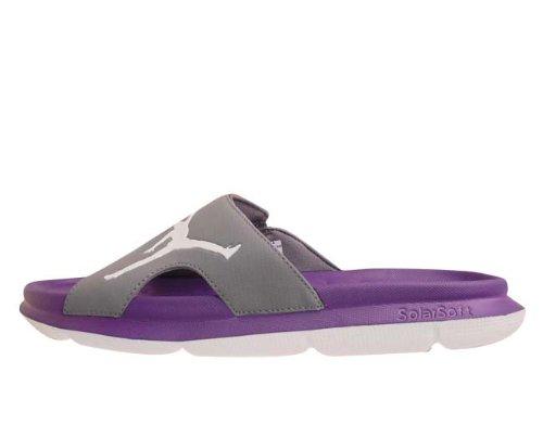 Cheap Nike Jordan RCVR Slide Cool Grey White Club Purple 2012 Mens Slippers 486995-006 (B0087DEE7M)