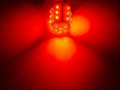 Pair of 3157 RED 20 LED Hyper LED Light Miniature