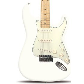 Rockburn Vintage ST Style Electric Guitar - Opal White