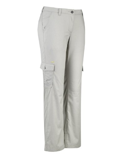 Jeff Green, Pantaloni da escursionismo superleggeri Donna Scout, Grigio (London Fog), 42