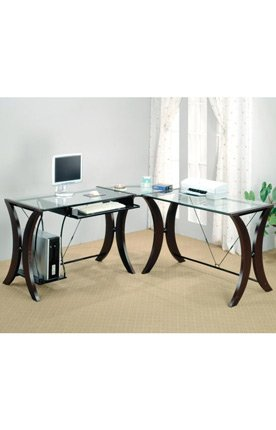 Buy Low Price Comfortable L-Shaped Computer Desk by Coaster Furniture (B004T3CM2I)