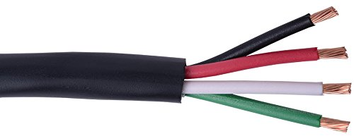 C&E Cne78373 Direct Burial Audio Cable 14 Awg/4 Conductor, 500-Feet, Pull Box, Black