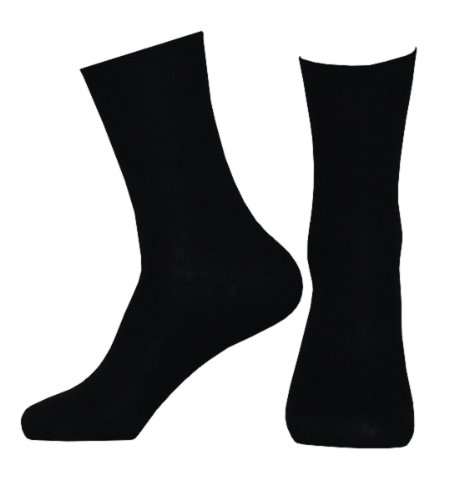 Tobeni® 10 Pair Mens Black 100 cotton socks