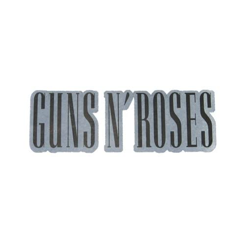 Guns n  Roses - Black Logo on White Background Plastisol Iron-On T    Guns N Roses Logo Black And White