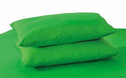 Tache 100% Cotton 2 Piece Lime Dark Green Pillowcase front-929897