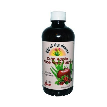 Organic Pleasant Tasting Aloe Vera Juice Drink, Cranberry - 32 Oz