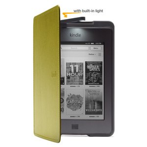Amazon Kindle Touch Lighted Leather Cover, Olive Green (only fits Kindle Touch)