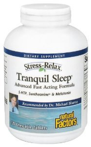 Natural Factors Stress-Relax Tranquil Sleep -- 120 Chewable Tablets