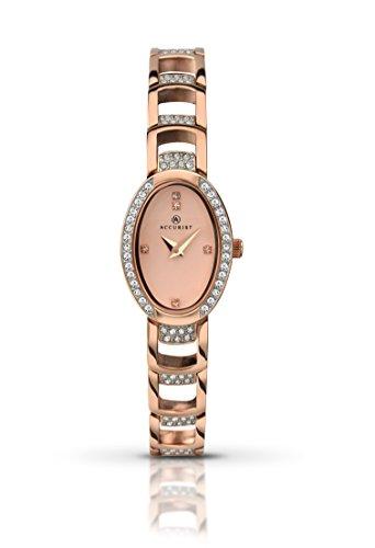 93bd2729e684 Para mujer Accurist reloj infantil de cuarzo con esfera analógica de oro  rosa y Cristales y ...