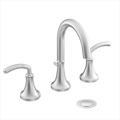 Moen TS6520 Icon Two-Handle High Arc Bathroom Faucet without Valve, Chrome
