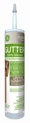DAP GE50G01 10.1 oz Clear Gutter Caulk (Ge Silicone Ii Clear compare prices)