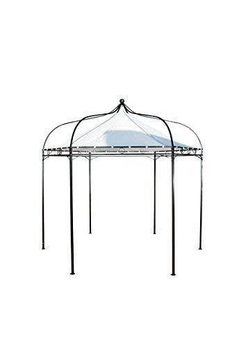 CLP sechseckiger Pavillon MANLEY aus Metall inkl. wasserdichtem Dach (Höhe 280 cm, Breite 280 cm) weiss