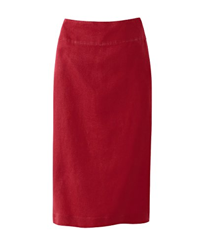 PENCIL SKIRT washed linen AUBERGINE