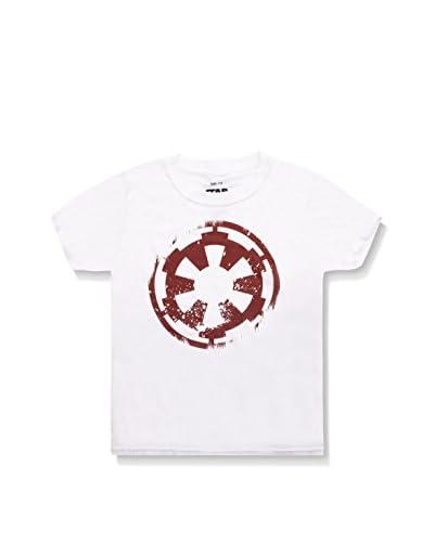 Star Wars Camiseta Manga Corta Distressed Empire Logo Blanco