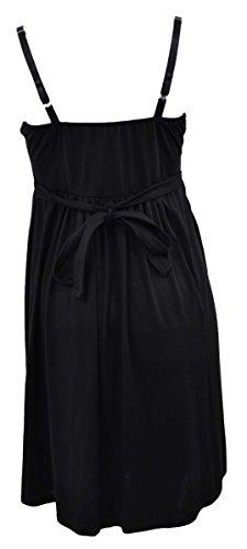 ALLISON BRITTNEY Padded Jersey Knit Sleeveless Summer Little Black Dress, Small