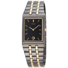 Seiko Men's SKP017 Dress Black Ion Watch