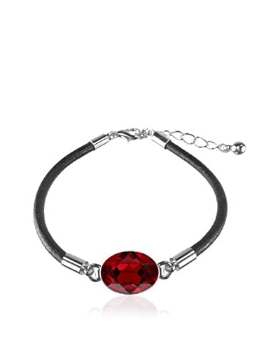 Bohemian Love Story Pulsera Rounded Leather Oval Rojo