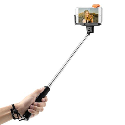 AUKEY-Selfie-Stick-Monopiede-Bluetooth-con-Asta-Estendibile-per-iPhone-6s-6s-plus-6-6-plus-Samsung-S5-S4-Galaxy-Note-2-3-4-Nexus-LG-HTC-XIAOMI-HUAWEI-e-altri-Smartphone-HD-P4
