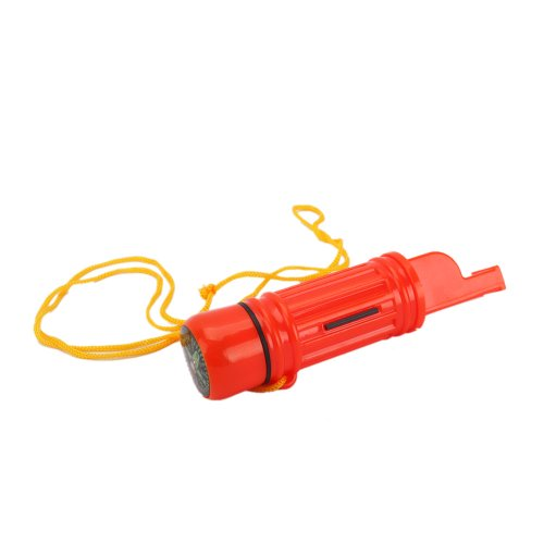 Mini Pocket Plastic Multifunction Survival Whistle Compass for Camping Hiking Emergency