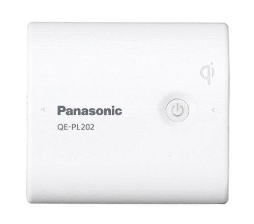 Panasonic Qi対応(無接点充電対応) USBモバイル電源パック リチウムイオン 5,400mAh 白 QE-PL202-W