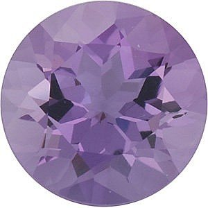 Round Shape Genuine Amethyst Loose Gemstone, Quality Grade, B 0.6 carats 5.50 mm