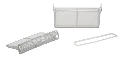 DREHFLEX® - Flusensieb / Sieb passend für diverse Trockner / Wäschetrockner von Bosch / Siemens / Constructa / Neff - passend für Teile-Nr. 650474 / 00650474 - 3teilig - aufklappbar