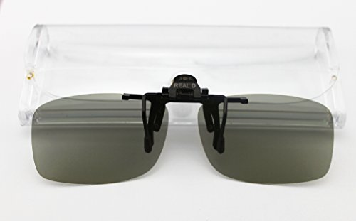 JK Passive Circular Polarized Clip On 3D Glasses For LG SONY 3D TV & MasterImage Disney Digital RealD Cinemas