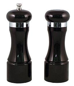 Chef Specialties - 90053 - 6.5 Inch - Black Tie Pepper Mill And Salt Shaker Set