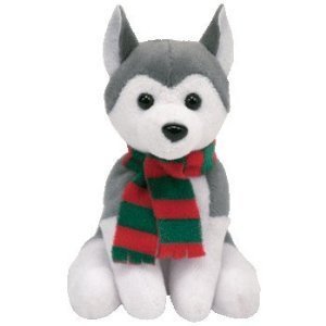 Ty Jingle Beanies - Sleds the Dog - 1