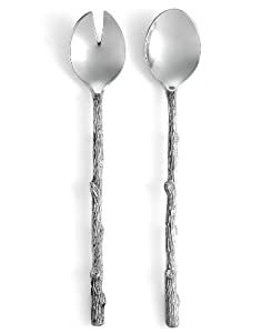 Martha Stewart Park Leaves Serveware, Set of 2 Willow Salad Serving Utensils