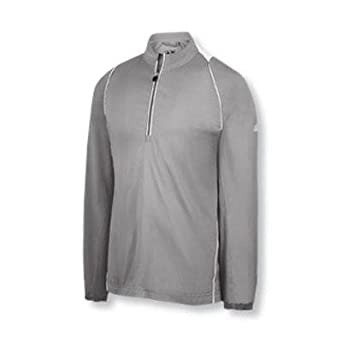Adidas Golf Mens ClimaProof Wind Shirt (Lance Grey White) (Medium) by adidas