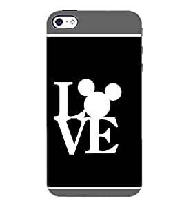 PrintDhaba Love D-1376 Back Case Cover for APPLE IPHONE 4S (Multi-Coloured)