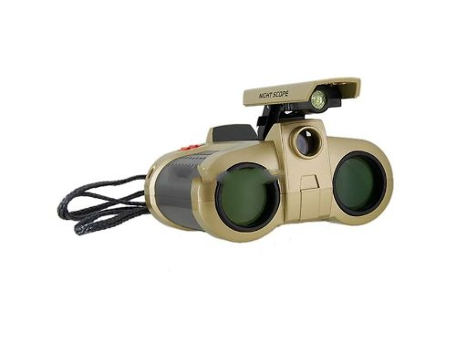 Alarm Security 4*30Mm Night Vision Binocular Surveillance Scope With Pop-Up Light Search (Gold) Produced By Ysk