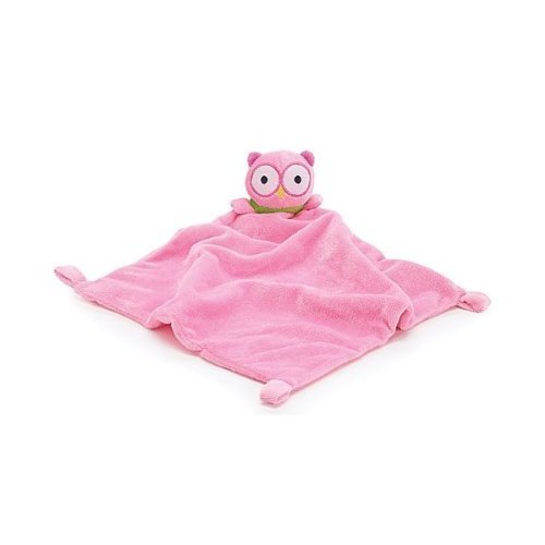 Soft Pink Security Blanket with Owl Adorable Nursery Decor and Baby Gift