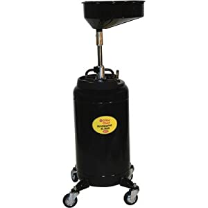 Crew Chief Self-Evacuating Portable Oil Drain with Auto Check - 25 Gallons, M...