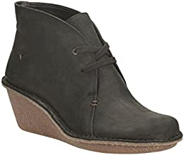 Clarks Womens Casual Clarks Marsden Lily Nubuck Boots In Black