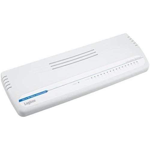 Logitec スイッチングハブ 16ポート プラスチックケース 電源外付 10/100Mbps LAN-SW16/PAW