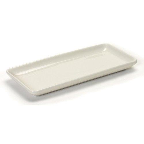 "Tuxton Bez-1141 11.5"" Eggshell Relish Tray - 12 / Cs"
