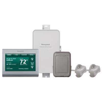 Honeywell, Inc. YTHX9421R5101SG Prestige® 2-Wire IAQ Kit with high definition color touchscreen silver front/gray sides thermostat with RedLINKTM technology