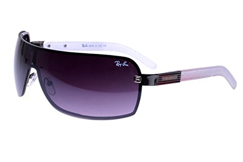 [Casual fashion sunglasses Aviator sunglasses Tech RB7010 Sunglasses White/Black Frame Purple Lens] (Iconic Women In History Costumes)