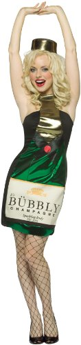Rasta Imposta Womens It'S Bubbly Champagne Dress Adult Costume